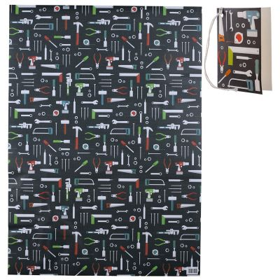 Tools DIY Hammer Spanner Gift Wrapping Paper Sheet & Tag