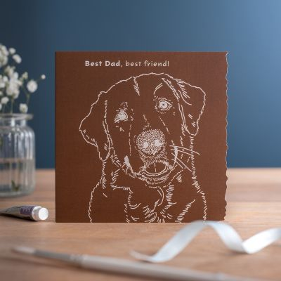 Dad Card - Labrador Dog