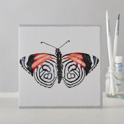 Greetings Card Open - Butterfly Watercolour