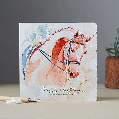 Happy Birthday Card - Horse Dressage