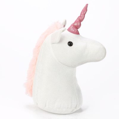 Unicorn Enchanted Rainbow Door Stop - White & Pink