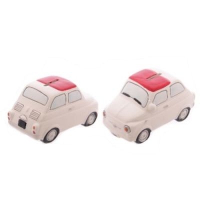 Fiat 500 Car Novelty Money Box - Red White