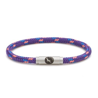Summer Pudding Purple Rope Bracelet Steel Clasp - Boing