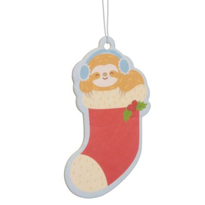 Christmas Sloth Festive Friends Air Freshener Spiced Orange Scent
