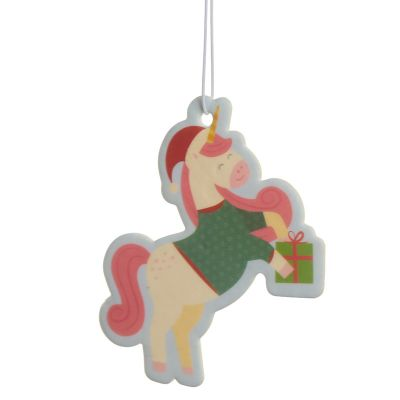 Christmas Unicorn Festive Friends Air Freshener Cookie Scent
