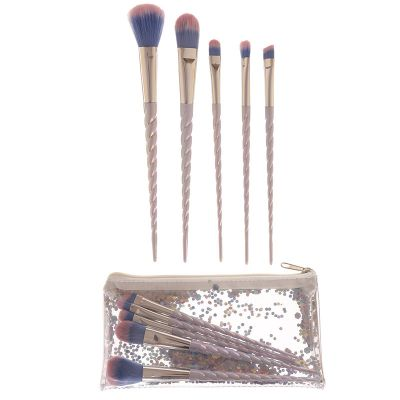 Unicorn Horn Handy 5 Piece Make Up Brush Set