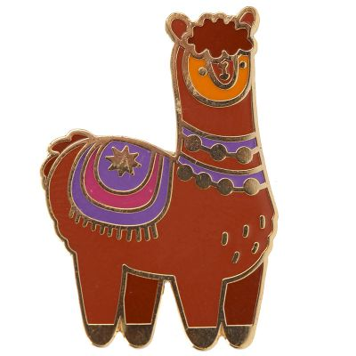 Alpaca the Herd Design Enamel Pin Badge