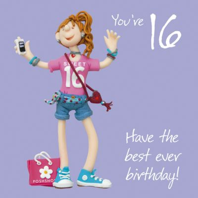 16th Female Birthday Card - Sweet Sixteen 16 One Lump Or Two