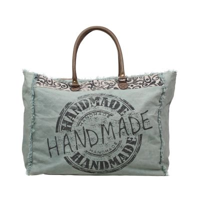 Green Canvas Handmade Weekend Overnight Large Bag