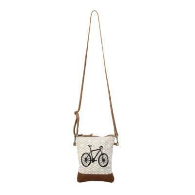 Bicycle Design Canvas Cross Body Bag