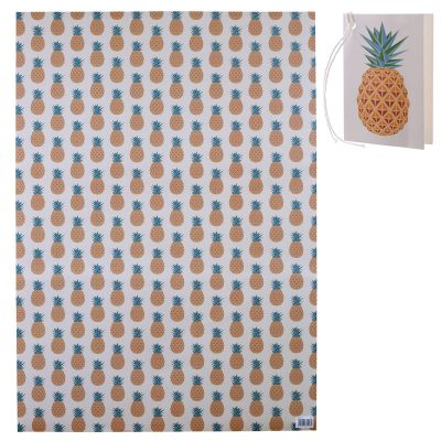 Pineapple Fruit Design Gift Wrapping Paper Sheet & Tag