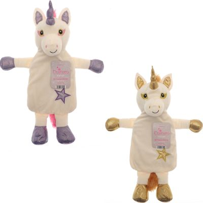 Unicorn Sparkly Hot Water Bottle - 2 Colours