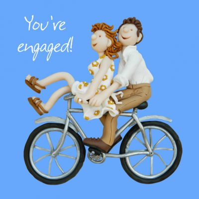 Engagement Card - You're Engaged Bicycle - Funny One Lump Or Two