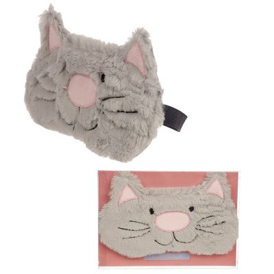 Cat Cute Fluffy Eye Mask - Grey