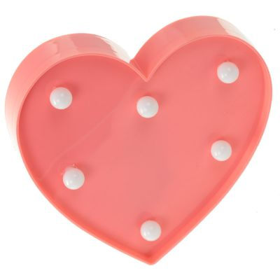 Heart LED Light Decoration Valentine Love Pink