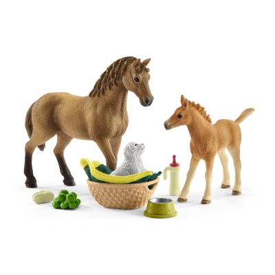 Horse Club Sarah's Baby Animal Care Horse, Foal, Puppy - Schleich - 42432