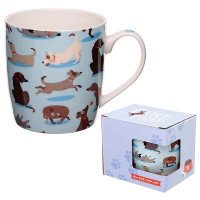 Dog - Catch Patch China Boxed Mug