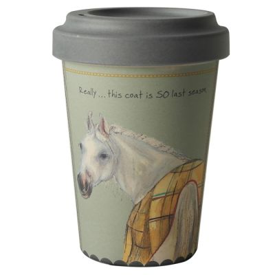 Horse Last Season Bamboo Travel Mug - Little Dog