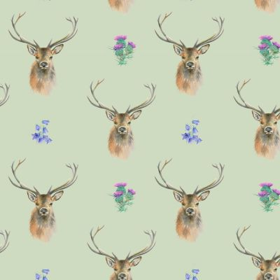Stag Scottish Wrapping Paper Sheets & Tags - Arty Penguin