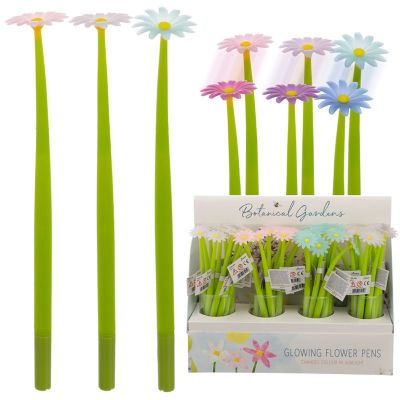 Botanical Gardens UV Colour Changing Daisy Novelty Pen - 3 Colours