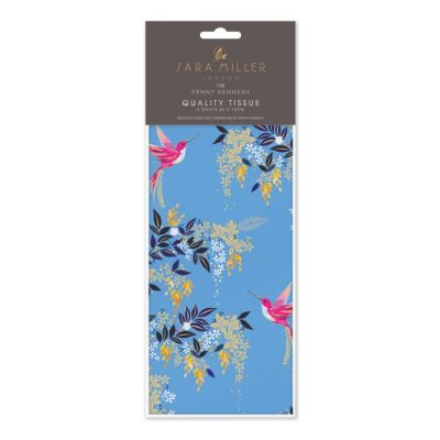 Hummingbird Blue Luxury Tissue Paper - Sara Miller