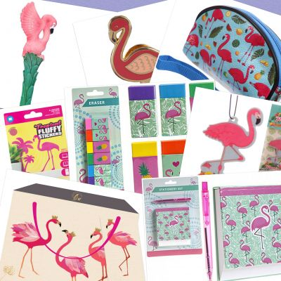 Birthday Mothers Day Gift Set - Flamingo Deluxe Set