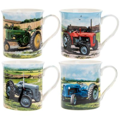 Vintage Tractor Collection Fine China Mug Gift Set