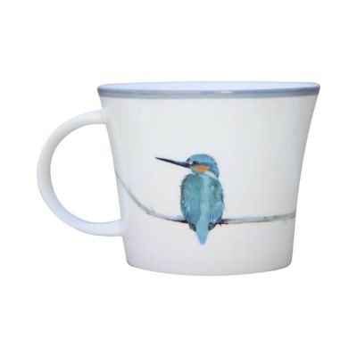 Kingfisher Bird Skyla Bone China Mug - Emily Smith