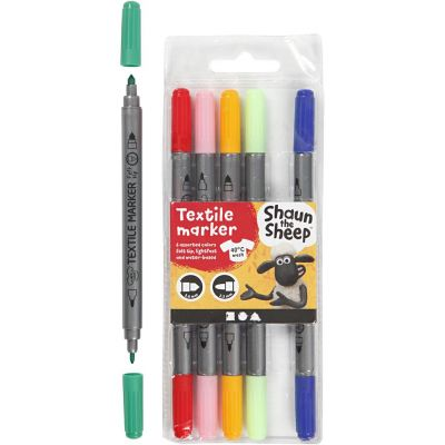 Shaun The Sheep Textile Marker - Set of 6 Colours
