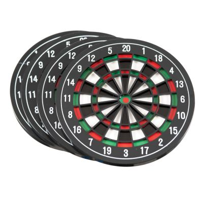 Dartboard Darts Coaster Set of 4 - Novelty Gift - Funtime