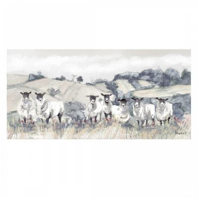 Country Flock Sheep - Wall Art Canvas - Gracie Tapner