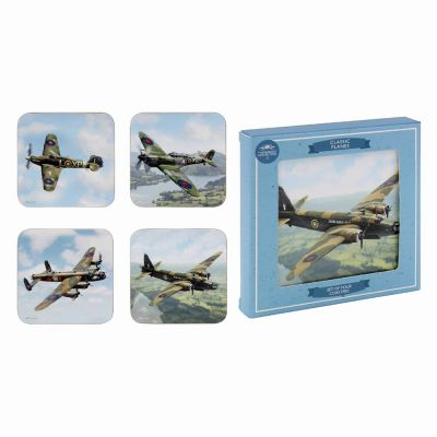 Classic Planes Coasters - Set of 4
