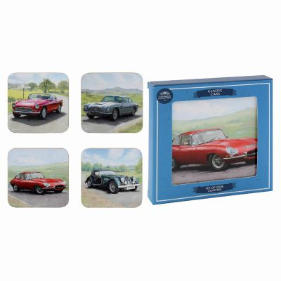 Classic Cars Coasters - Set of 4