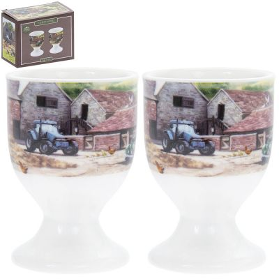 Farmyard Land Rover Egg Cups - Set of 2 - Lesser & Pavey