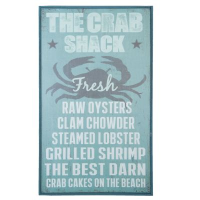 Wooden Quote Board Picture Sign - Crab Shack - Clayre & Eef