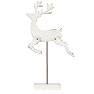 Leaping Stag Wooden Standing Decoration