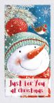 Money Wallet Christmas Card - Snowman Robin - Glittered - Ling Design