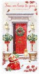Christmas Card - Our House To Yours - Glittered - At Home Ling Design