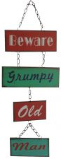 Grumpy Old Man Retro Metal Sign