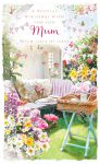 Birthday Card Deluxe - Mum - In The Garden - Glitter - Ling Design