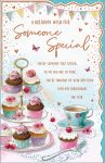 Birthday Card Deluxe Large - Someone Special Afternoon Tea - Regal
