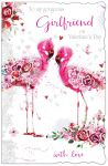 Valentine's Day Card - Large - Girlfriend - Flamingo - Glittered - Out of the Blue