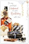 Birthday Card - Large - Husband - Gifts - Glitter Out of the Blue